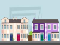 Belfast Houses Ullustrations