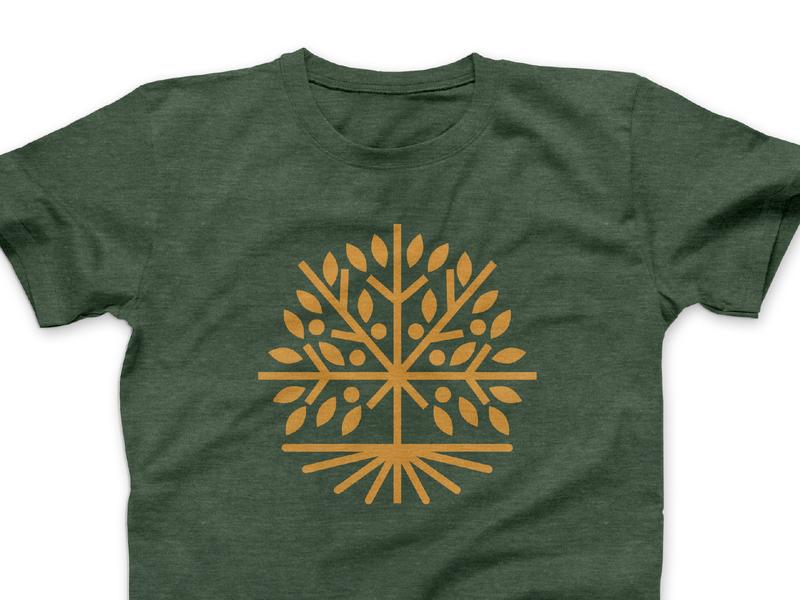GreenTree Logo Comp 1 austin texas austin logo design tshirt design illustration leaves roots green tree green fruitful fruit monoline icon tree logo apparel tshirt