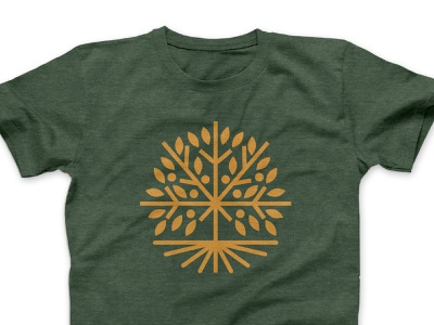 GreenTree Logo Comp 1 austin texas austin logo design tshirt design illustration leaves roots green tree green fruitful fruit monoline icon tree logo apparel tshirt