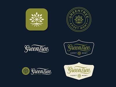 GreenTree Logo Design 2 texas austin texas austin real estate brand book variations brandscape brand manual brand identity branding logo icon badge lettering greentree tree