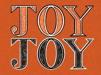 JOY Lettering happy fruitofthespirit scripture bible decorative flowers orange procreate texture words handlettering lettering joy