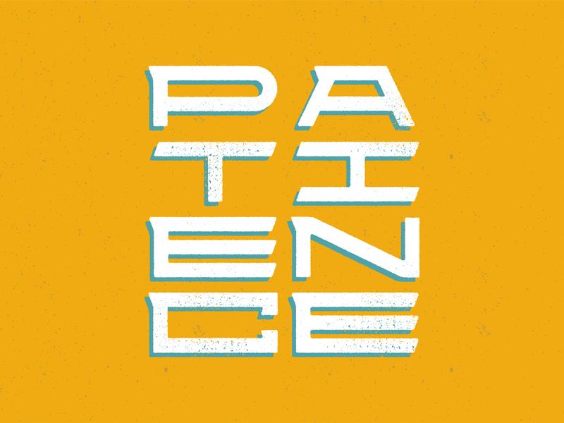 Patience Lettering handlettering expanded orange scripture bible verse bible words letters font vector texture lettering fruit of the spirit patience