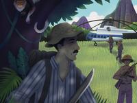 Dad in Vietnam Illustration