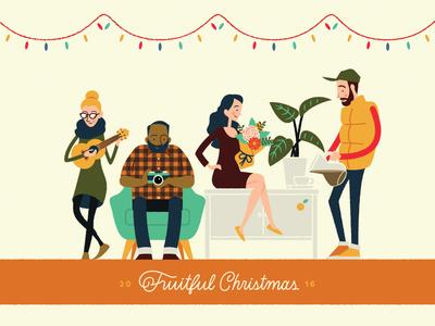 2016 Fruitful Christmas Card Illustration