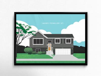 Fowler St. House Illustration