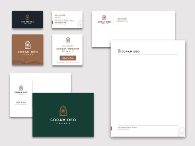 Coram Deo Stationery note card business cards letterhead paper rebranding rebrand stationery church coram deo