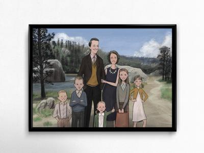 Curtis Family Illustration