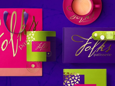 Identity and packaging design for Folks patisserie packaging vector identity design patisserie print packagedesign package best logo illustration logotype design logo identity branding