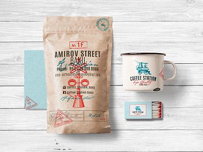 Olena Fedorova Coffee Station design olenafedorova coffeelogo identity coffee logo branding