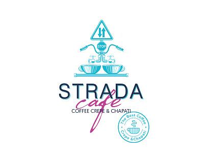 Olena Fedorova Strada cafe logo best logo coffeestation coffee coffee logo design olenafedorova identity logo branding