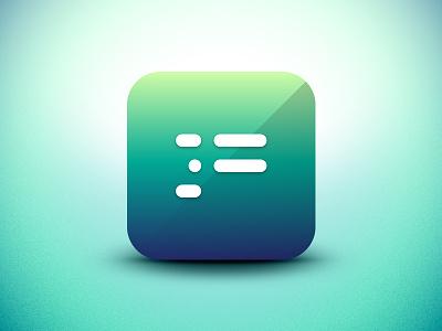 Parss App Icon parss rss iphone app icon ios design minimal ipad ui reader
