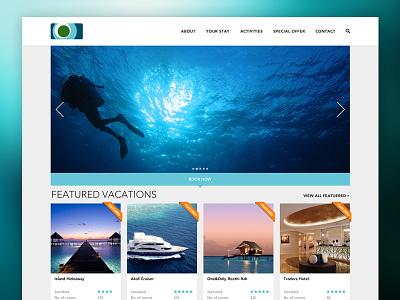 Faunu Travels Website clean layout minimal ui flat ux web website travel tourism maldives