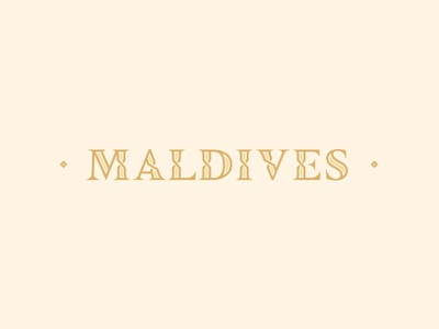 Maldives Typo custom type type lettering serif maldives typography
