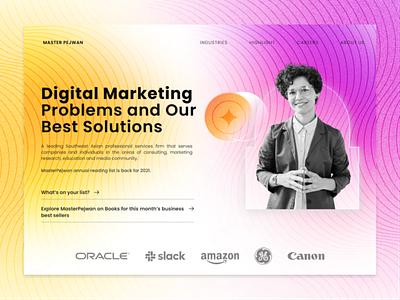 Master Pejwan - Digital Marketing Landing Website home page ui advertising agency landing smm marketing identity graphic design digital marketing design branding digital