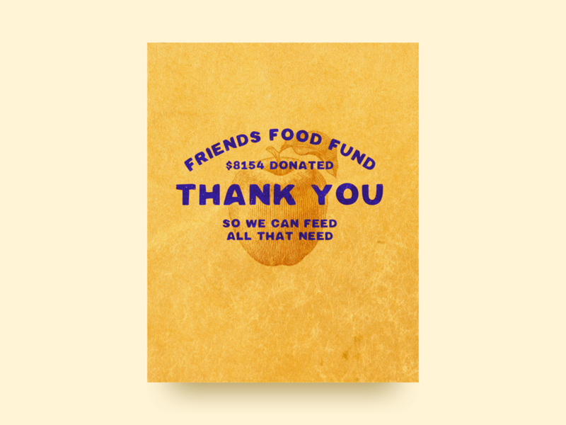 Thank you from the Friends Food Fund