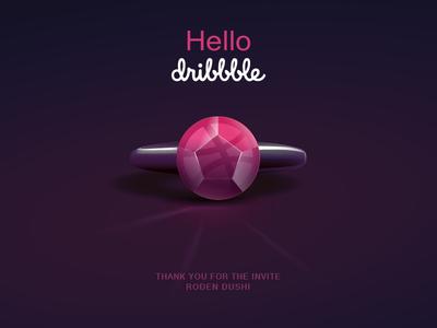 Hello Dribbble dribbble illustration adobe illustrator hello dribbble first shot ring gradient debuts design logo