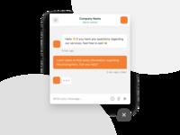 Corporate chat widget product corporate online emoji web widgets interface ui messenger message chatbot widget chat