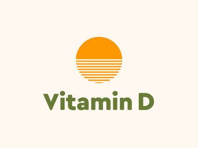 Vitamin D quickie rebound orange logo simple orange geometric sun vitamin c vitamin d