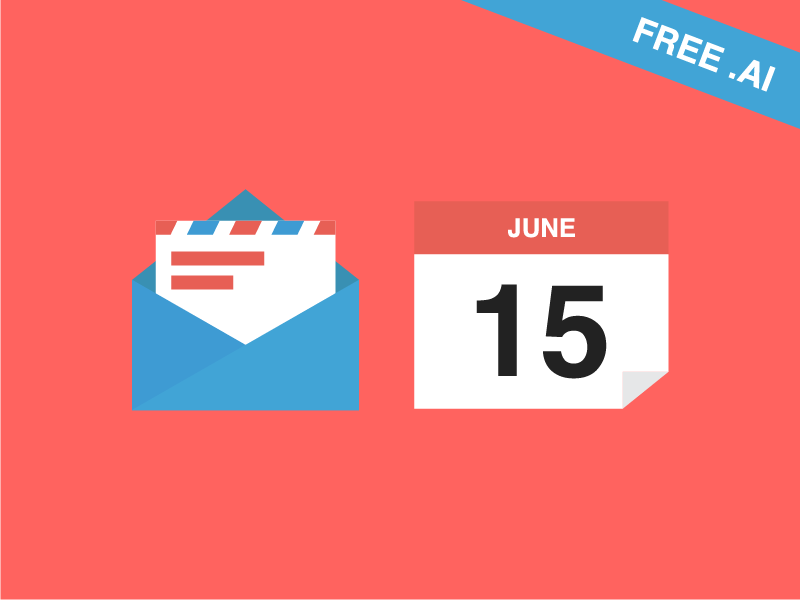 Flat icons on my Macbook simple flat icon ronnie faust mail calendar 15 june envelope clean couple app icons ios free svg ai illustrator graphic mac apple change