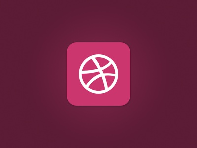 What if.. dribbble ios 7 app logo basketball pink ronnie faust icon gradient simple minimalistic