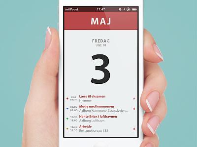 Calendar Application Prototype gui simple ios 7 concept app ui iphone ux project new calendar date