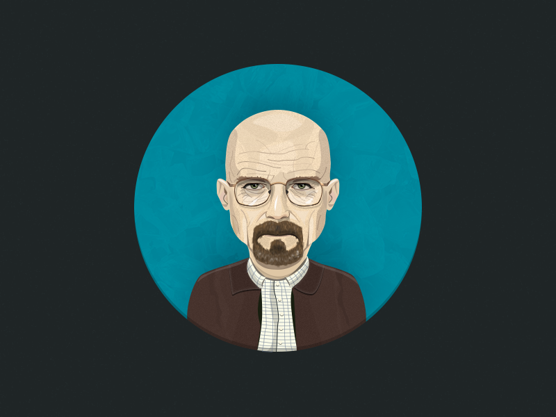 Walter White illustration character breaking bad walter white vector avatar