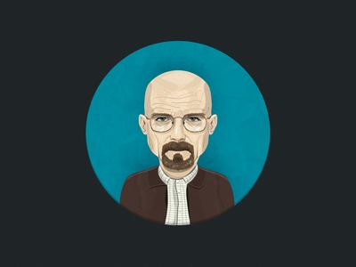 Walter White illustration character breaking bad walter white vector avatar