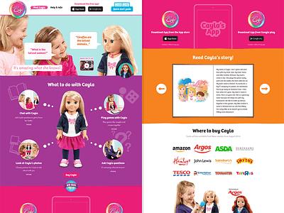My Friend Cayla Website website ui toy girls