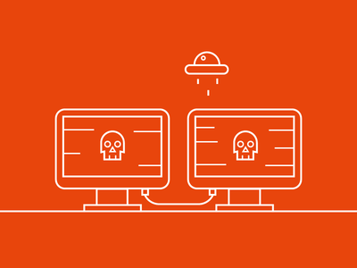 Data attacks from anywhere illustration