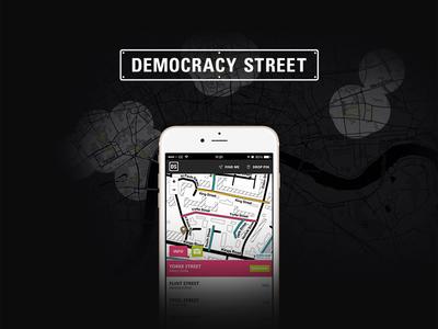 Democracy Street digital app democracy ui design