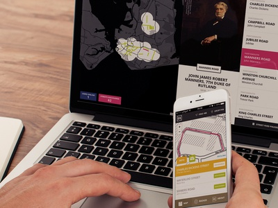 Democracy Street web app ui interactive map