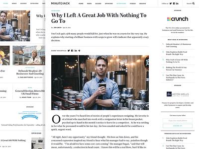 Minutehack website business clean entrepreneurs startups