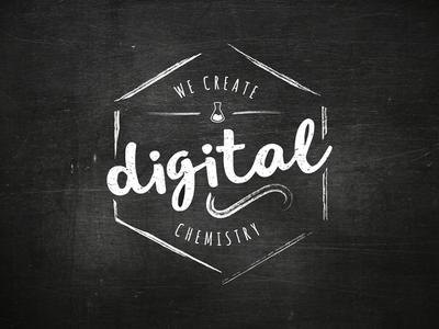 We create digital chemistry type illustration graphic