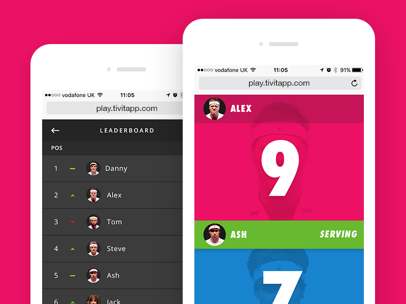 Tivit web app dribbble
