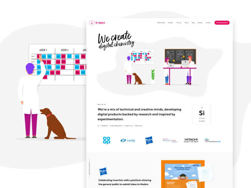 Si digital | We create digital chemistry ux agency development design user interface website illustration ui