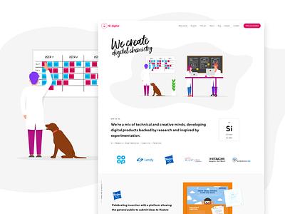 Si digital   We create digital chemistry ux agency development design user interface website illustration ui