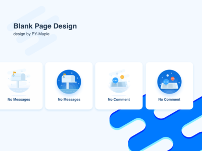 Blank page design