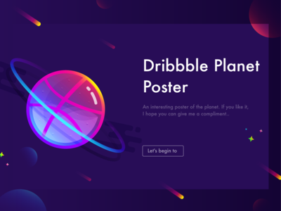 Dribbble Poster