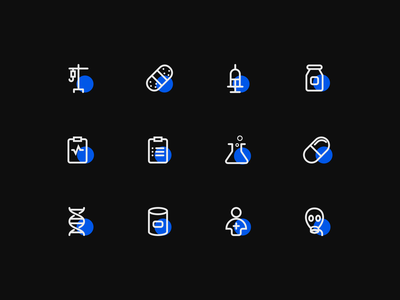Medical Icon simplicity ui design bule linear icons medical care