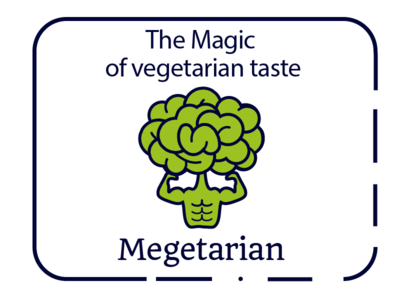 Logo for the mobile application of vegetarian recipes.