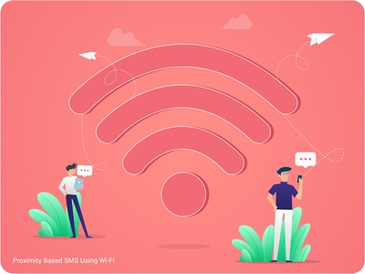 Sms Using Wifi | Illustration