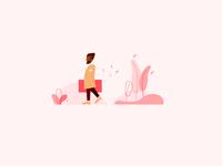 Flat Illustration :Walking Man