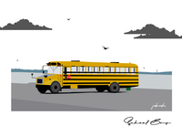 Yellow School Bus: Illustration