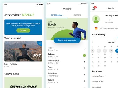 Fitness Application redesign (8 fit)