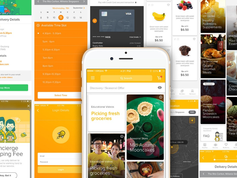 Bee'ing a Competition singapore cute illustration bee yellow startup grocery app honestbee logo illustrator app flat illustration design ux branding ui