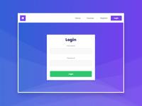 Login Screen - Web
