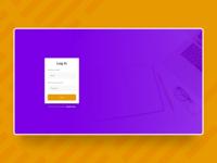 Educational Web App Login Screen