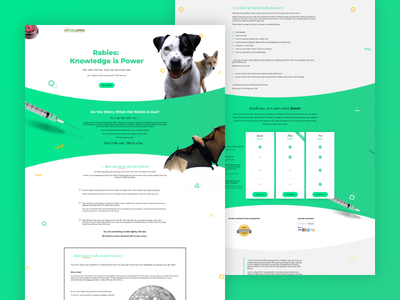 Vital Animal sales page - online course course green veterinary pets website javascript css html sales page landing page