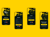Music streaming app - registration and login - Daily UI 001