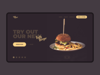 Burger place website hero slider